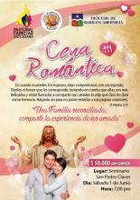 Durante la Semana Diocesana de la Familia vive con tu pareja la Gran Cena Romántica